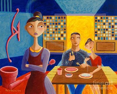 Meal Painting - Ako Ang Nagsaing by Paul Hilario