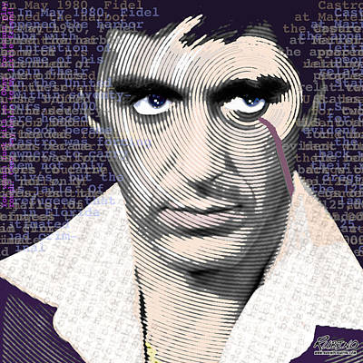 Cocaine Painting - Al Pacino Again by Tony Rubino