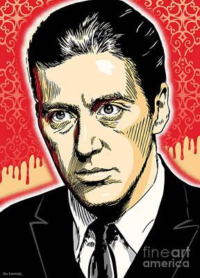 Al Pacino As Michael Corleone Pop Art Print by Jim Zahniser