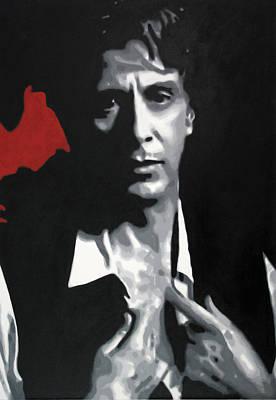 Richard S. Castellano Painting - Al Pacino  by Luis Ludzska