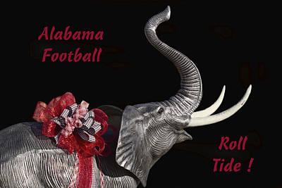 Alabama Football Roll Tide Print by Kathy Clark