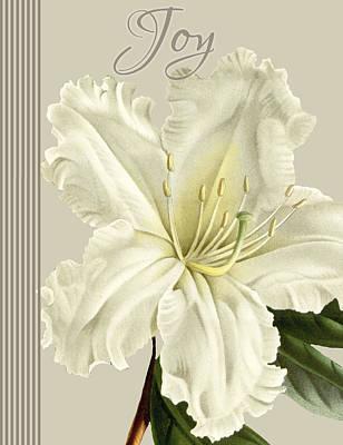 Alabaster Blossoms E Vertical 2 Print by Gail Fraser