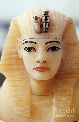 Alabaster Head Of King Tutankhamun Print by John G. Ross