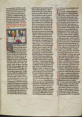 Arthurian Photograph - Alain Promised Custody Of Grail by British Library