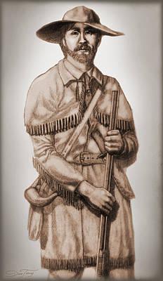 Alamo Defender Frontiersman Print by Dan Terry