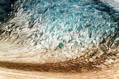 Large Format Photograph - Alaska Close-up Of A Glacier (large by Janet Muir
