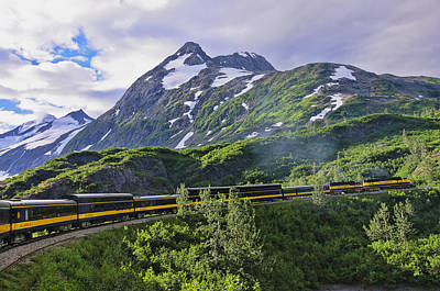 Alaska Railroad And Glacier Print by Betty Eich