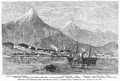 Sitka Painting - Alaska Sitka, 1868 by Granger