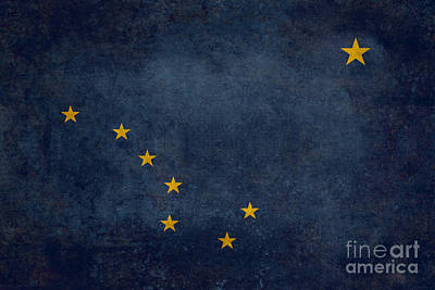 Alaska State Flag Print by Bruce Stanfield