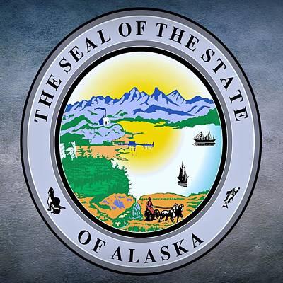Igloo Digital Art - Alaska State Seal by Movie Poster Prints