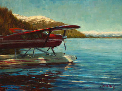 Float Plane Painting - Alaskan Adventure by Jeanne Young