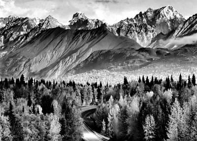 Alaskan Mountains Print by Katie Wing Vigil