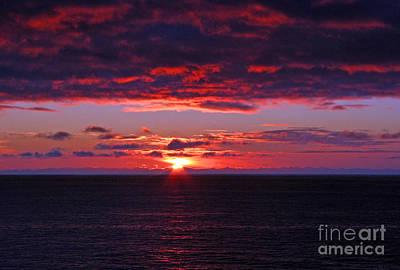 Alaskan Sunset Print by Bob Hislop