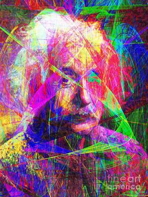 Albert Einstein 20130615 Print by Wingsdomain Art and Photography