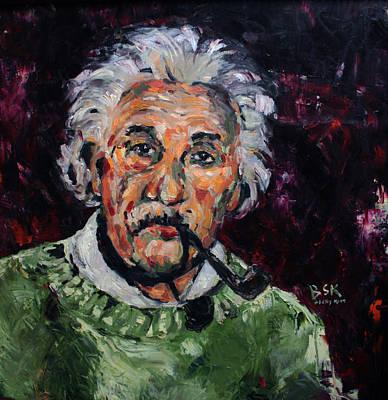 Photograph - Albert Einstein by Becky Kim