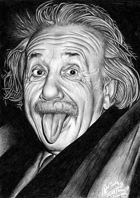 Einstein Drawing - Albert Einstein by Colleen Trillow