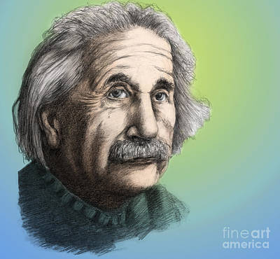 Mass Effect Photograph - Albert Einstein, German-american by Spencer Sutton