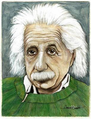 Einstein Drawing - Albert Einstein by James Oliver