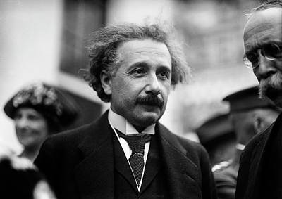 Albert Einstein Print by Library Of Congress