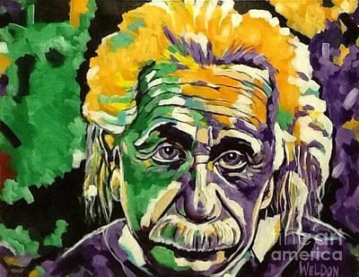 Einstein Drawing - Albert Einstein  by Mark Weldon