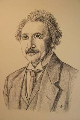 Einstein Drawing - Albert Einstein by Robie Benve