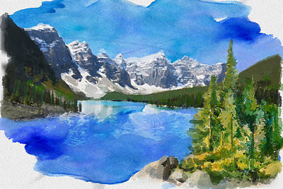 Snowy Mountains Painting - Alberta Landscape 13 by Mahnoor Shah