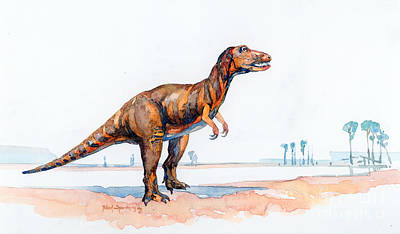 Dinosaur Painting - Albertosaurs by Robert Spannring