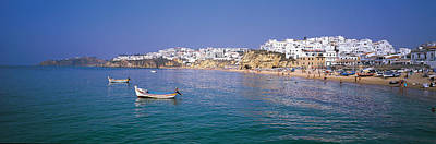 Boats In Water Photograph - Albufeira Algarve Portugal by Panoramic Images
