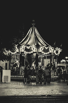 Albufeira Street Series - Merry-go-round Print by Marco Oliveira