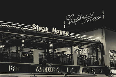 Albufeira Street Series - Steak House Print by Marco Oliveira