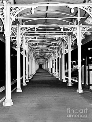 Albury Station - Long Undercover Platform Print by Kaye Menner