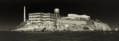 Abandoned Photograph - Alcatraz The Rock Sepia 1 by Scott Campbell