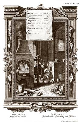 Alchemical Elements, 18th Century Print by Science Photo Library