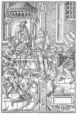 Alchemical Photograph - Alchemist Being Tortured by Cci Archives