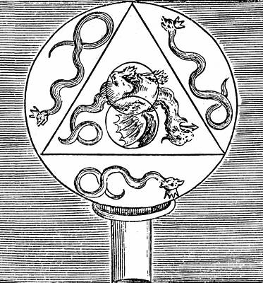 Alchemical Photograph - Alchemy Symbols by Universal History Archive/uig