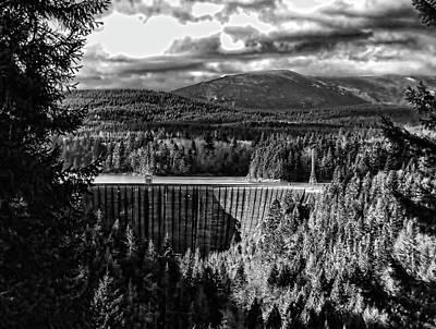 Alder Dam Near Mt Rainer Wa Print by Ron Roberts