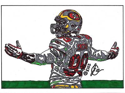 Aldon Drawing - Aldon Smith by Jeremiah Colley