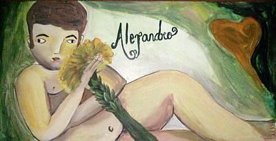 Alejandro Print by Vickie Meza