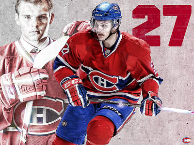 Montreal Canadiens Digital Art - Galchenyuk Poster Print by Nicholas Legault