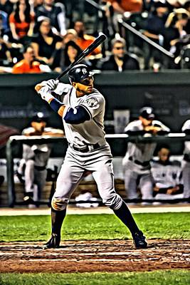 Alex Rodriguez Canvas Print by Florian Rodarte
