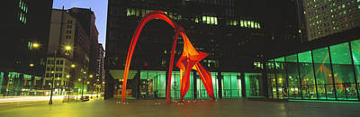 Urban Art Photograph - Alexander Calder Flamingo, Chicago by Panoramic Images