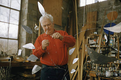 Alexander Calder In His Studio 1958 Print by The Phillip Harrington Collection