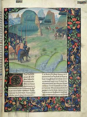 Alexander Confronts Darius IIi Print by British Library