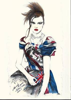 Alexander Mcqueen Autumn To Winter 2008 To 09 Print by Charlie Wallace