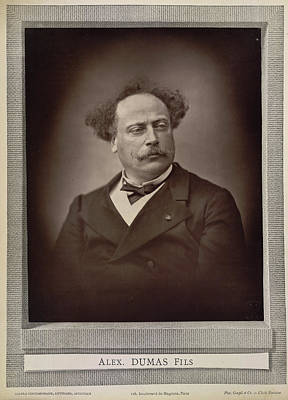 Alexandre Dumas Print by British Library