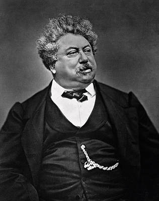 Alexandre Dumas Print by French Photographer