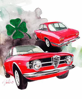 Romeo Painting - Alfa Romeo Giulia by Yoshiharu Miyakawa