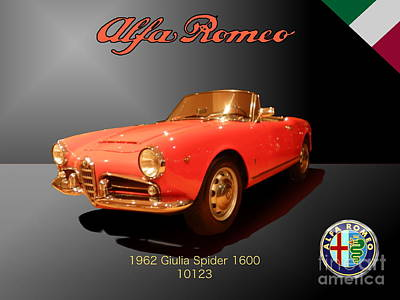 Car Photograph - Alfa Romeo by Laura Toth