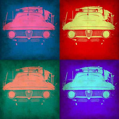 Vintage Car Painting - Alfa Romeo  Pop Art 1 by Naxart Studio