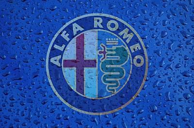 Alfa Romeo Rainy Window Visual Art Print by Movie Poster Prints